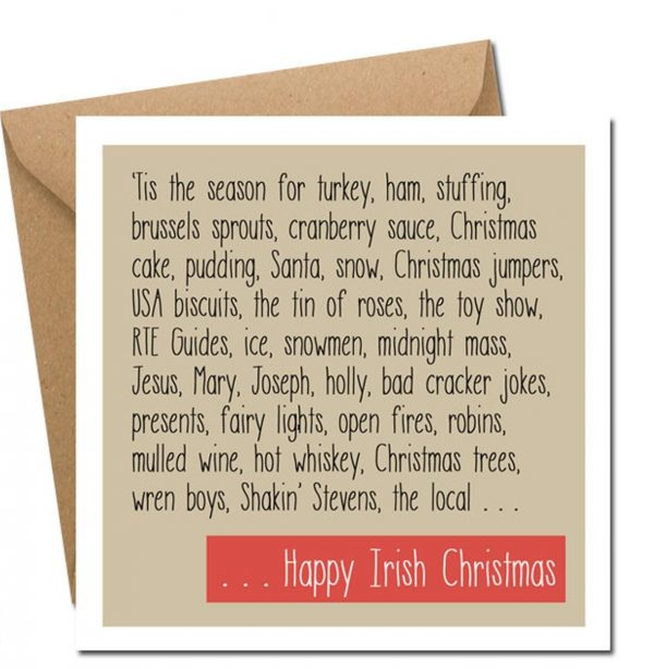 Happy Irish Christmas card