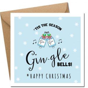 gin-gle bells! irish christmas card