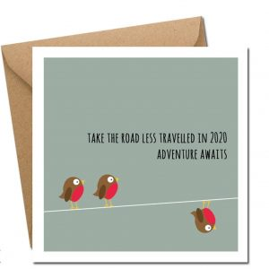 Take the Road Less Travelled christmas card