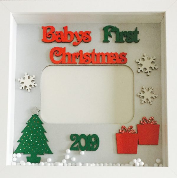 Baby's first christmas 2019 photo frame