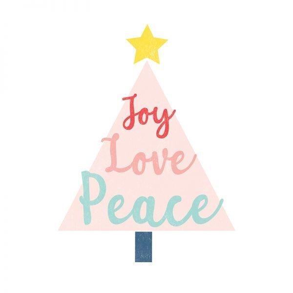 Joy Love Peace Christmas Card - joylovepeace christmascard detail