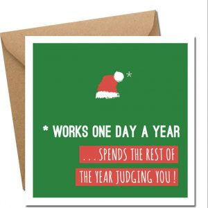works one day a year - christmas card