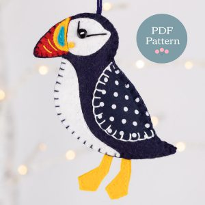 Sewing Pattern - Puffin Felt Ornament