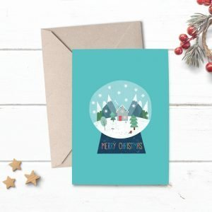 Snow Globe Christmas Card