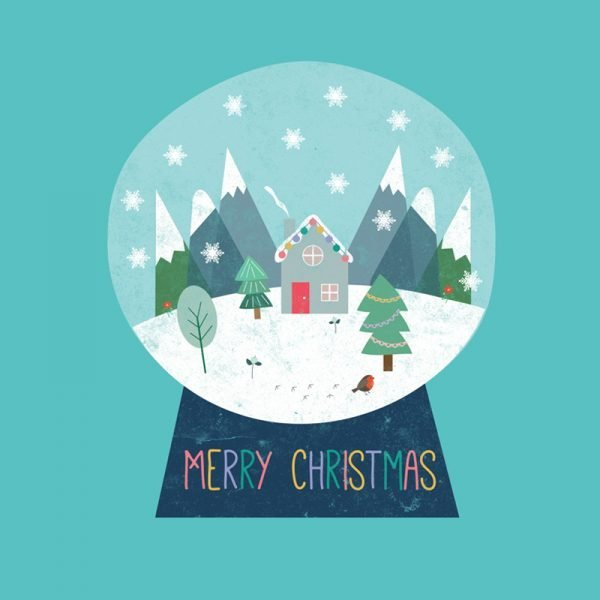 Snow Globe Christmas Card - snowglobe ChristmasCard detail