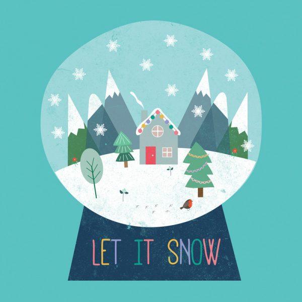 Snow Globe Art Print - snowglobe detail