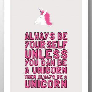 Always Be A Unicorn lainey k wall print