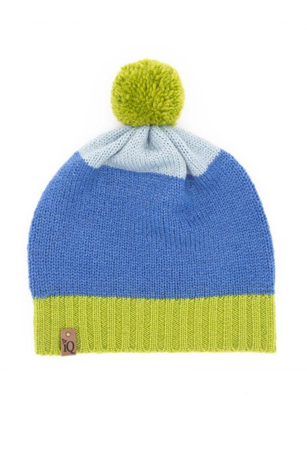 green pom pom beanie hat