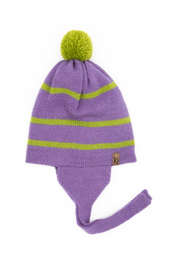 purple earflap woollen hat 2