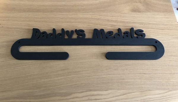 Personalised Medal Holder - 1 Medal holder 1 arm black scaled