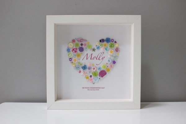 Personalised Pretty Pastels Heart Frame