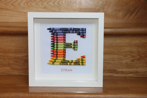 Crayon Art Initial Frames - Crayons kids03 scaled