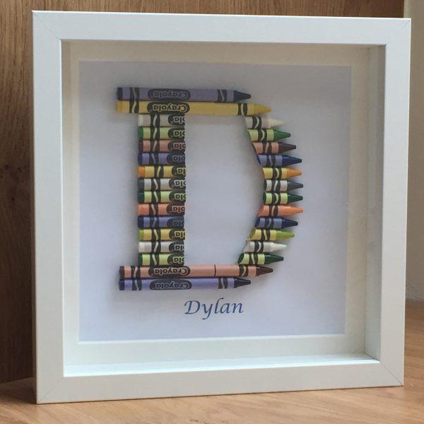 Crayon Art Initial Frames - Crayons kids04 rotated
