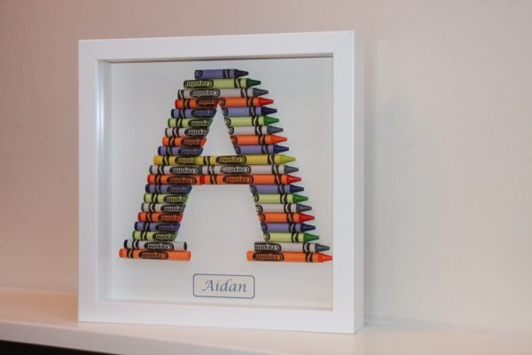 Crayon Art Initial Frames - Crayons kids05 scaled