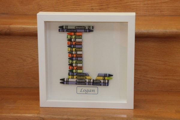 Crayon Art Initial Frames - Crayons kids07 scaled