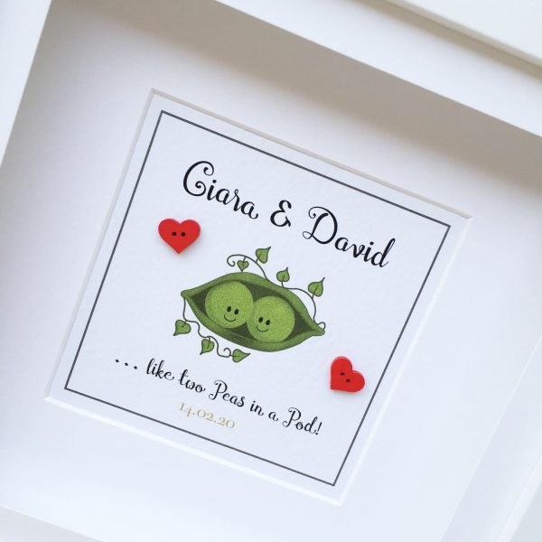 two peas in a pod personalised frame