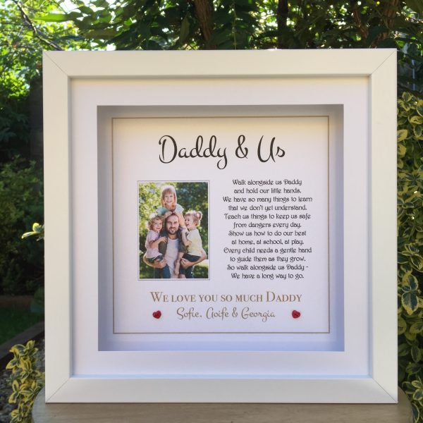 Daddy and Us personalised frame