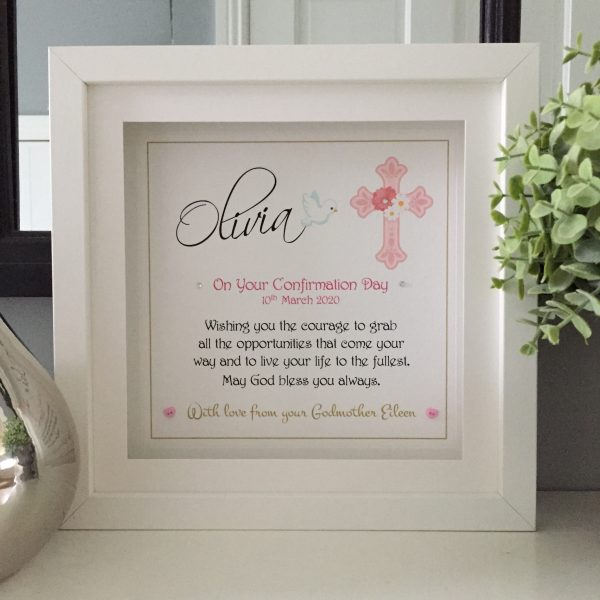coommunion and confirmation personalised frame
