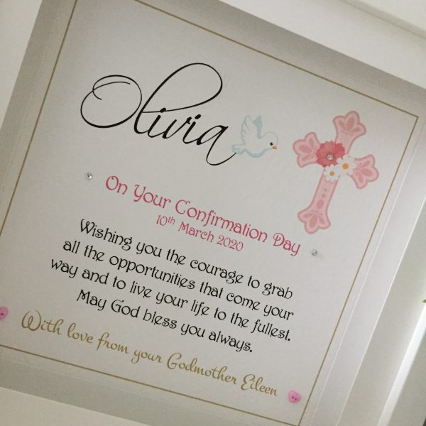 communion and confirmation personalised frame