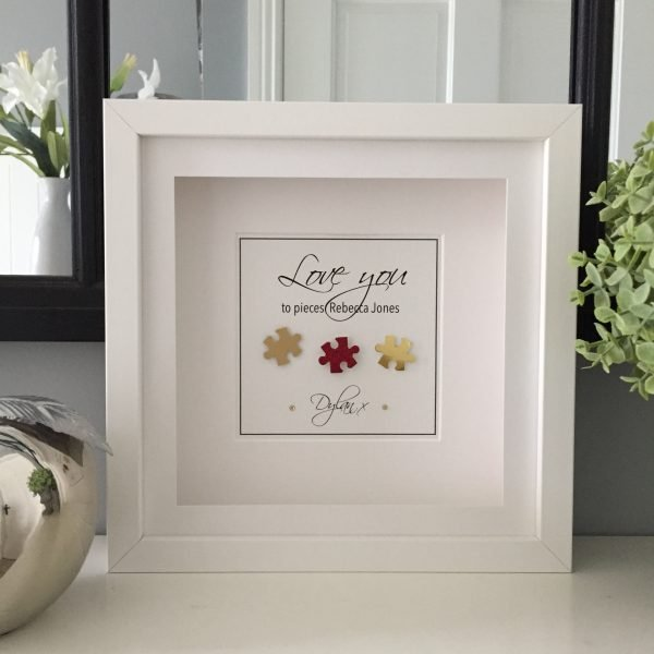 Love You to Pieces personalised frame