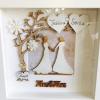 mrs and mrs wedding frame