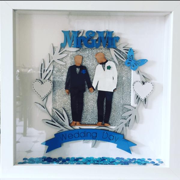 Mr&Mr personalised Wedding Frame