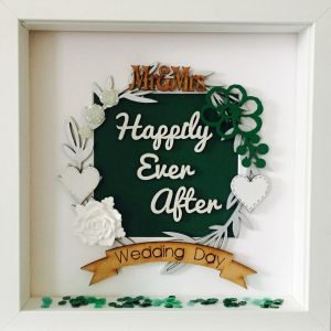 happily ever after wedding frame