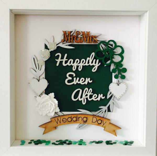 happily ever after wedding frame