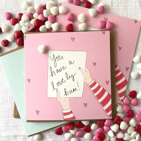 you have a lovely bum valentines day card
