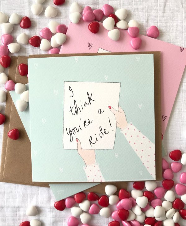 i think you're a ride valentine's day card
