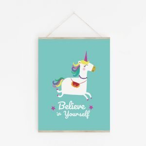 Unicorn 'Believe in Yourself' Print