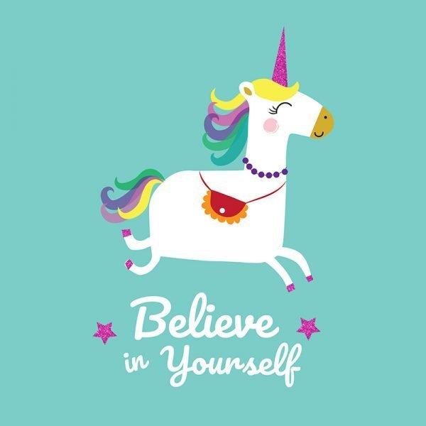 Unicorn 'Believe in Yourself' Print