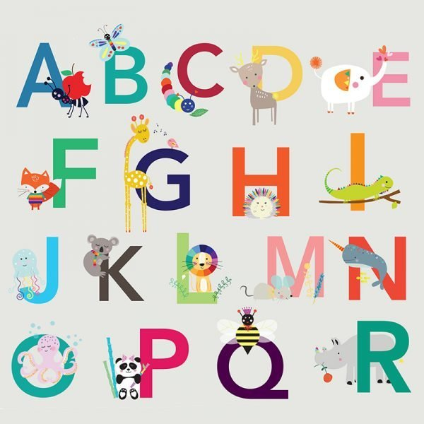 Animal Alphabet Poster - 04 ABCPOSTER detail