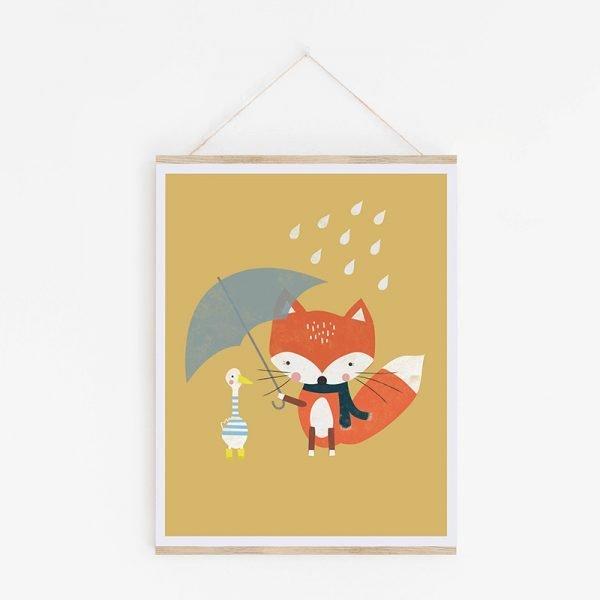 Fox & Friend Nursery Print - 04