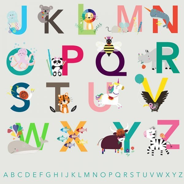 Animal Alphabet Poster - 05 ABCPOSTER detail