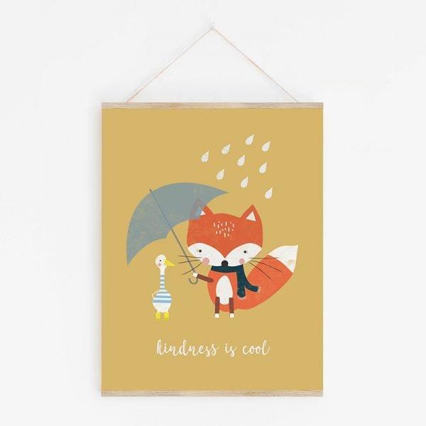 Fox & Friend Nursery Print