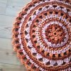 Retro Crochet Mandala Rug