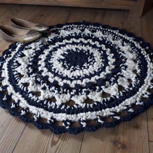 Nautical Crochet Mandala Rug