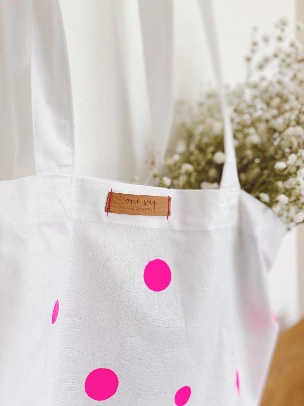Pink Polka Dots Tote Bag - 1579868770483 234