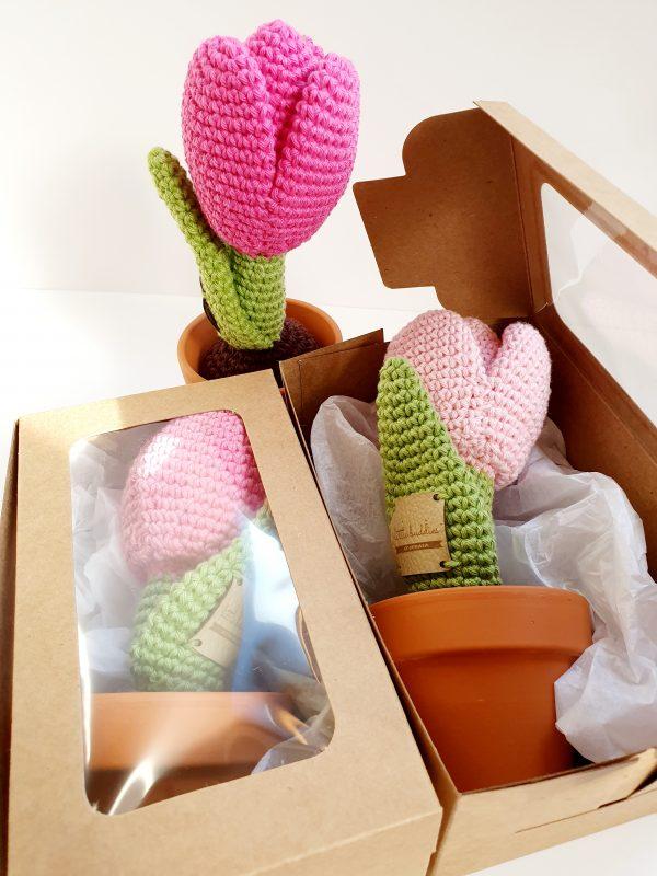 Crochet Tulip Flower in Pot - 20200225 114957 scaled