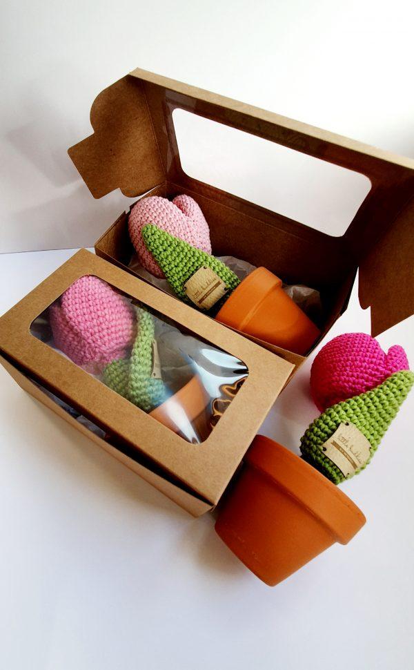Crochet Tulip Flower in Pot - 20200225 115151 scaled