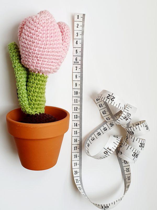 Crochet Tulip Flower in Pot - 20200225 121936 scaled