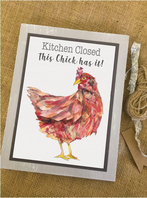 Hen Art Block - Brown Hen Pic 2