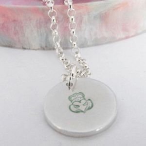 Irish Claddagh Handstamped Necklace