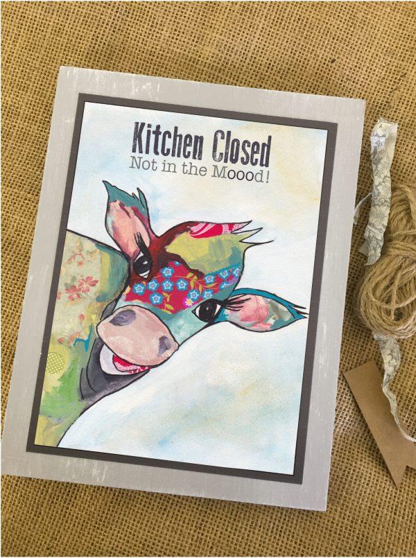 kitchen cow print