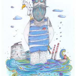 Merman of Seapoint irish wall print