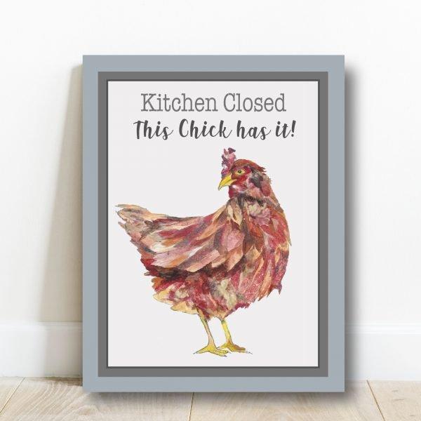 Hen Art Block - Hen