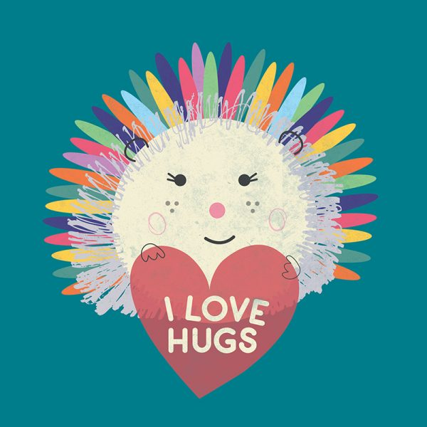 I Love Hugs Hedgehog - ILOVEHUGS HEDGEHOG DETAIL