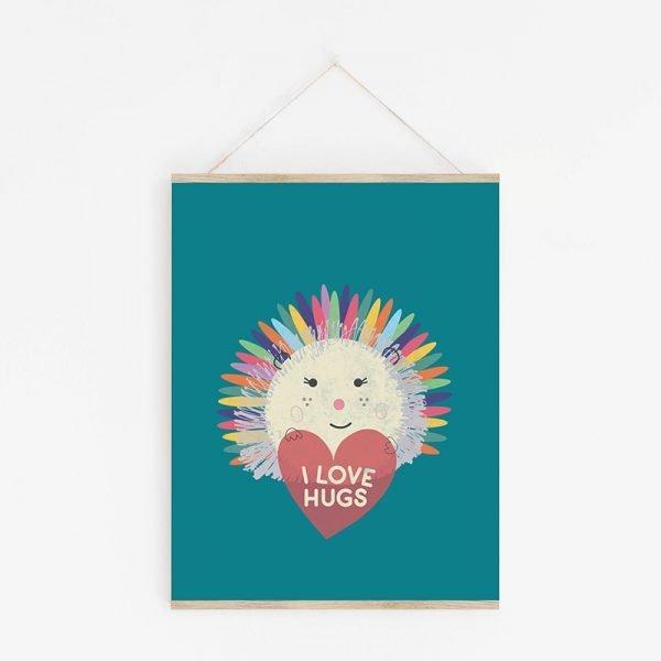 I Love Hugs Hedgehog