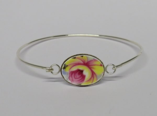 Bangle with Vintage China Yellow Blossom - IMG 0020 1 scaled